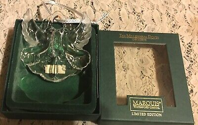 Nib Marquis Waterford Crystal Limited Edition  Millennium Doves Ornament Germany