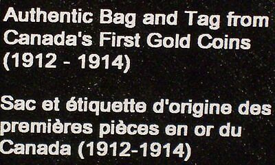 1913 $10 BANK of CANADA GOLD COIN HOARD Authentic Mint Bag & Tag *NO COINS*