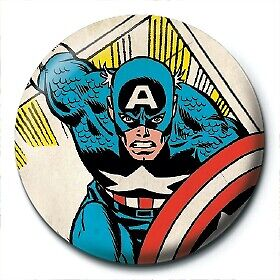 Marvel Comics Retro Captain America Clipping Official 25mm Button Pin Badge