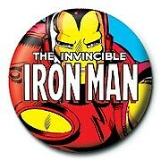Marvel Comics Invincible Iron Man Icon Avengers Official 25mm Button Pin Badge