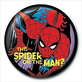 Marvel Comics Retro Spider or Man Logo Avengers Official 25mm Button Pin Badge
