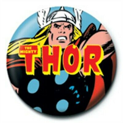 The Mighty Thor Logo Marvel Comics Avengers Official 25mm Button Pin Badge