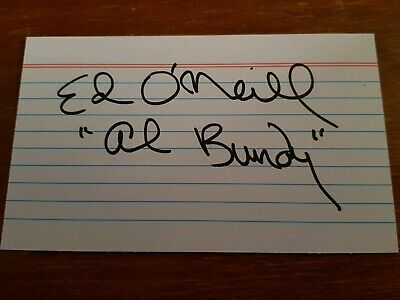 Ed O'neill Autographed Card (Married With Children Actor).