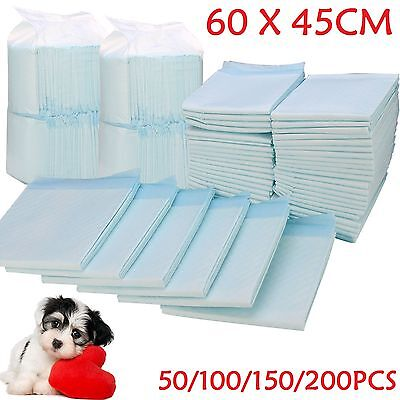 50 100 150 200 60X45Cm Large Puppy Training Pads Toilet Pee Wee Mats.pet Dog Cat