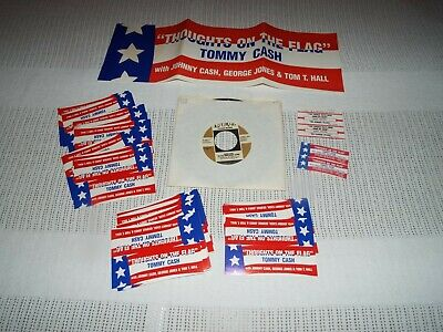 Tommy Cash & Johnny Cash On Laurie 45 Rpm Record Thoughts Of The Flag Package!!!