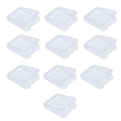 20Pcs Transparent TF Micro SD SDHC Memory Card Case Holder Storage Box Plastic
