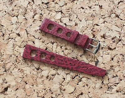 Tropical Style Rubber Watch Strap 20mm Tiger Red Rubber Divers Strap by Geckota