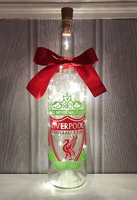 Liverpool Football Club Wine bottle lamp Handmade Gifts Can Be Personalised