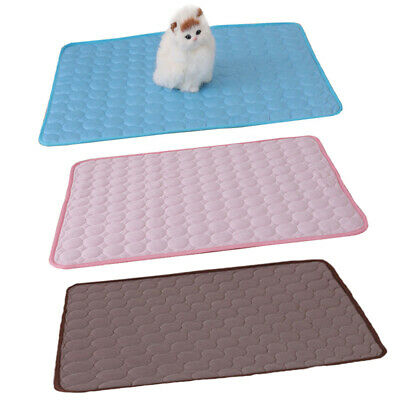 Pet Cooling Mat Non-Toxic Cool Pad Pet Bed For Summer Dog Cat Puppy 4-Size