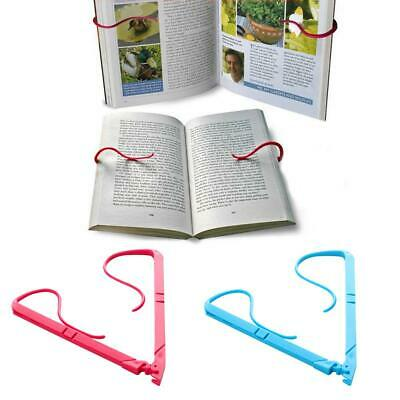 Portable Hands Free Book Holder Folding Stand Holds Pages Open Clip Fixed Clamp