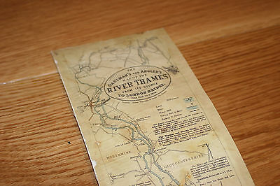 James Reynolds & Sons Oarsman's & Angler's Map of the River Thames - Date - 1889