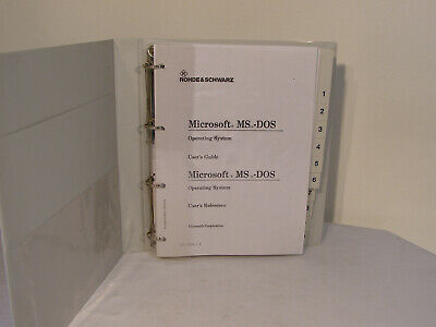 Rohde & Schwarz Microsoft MStm-DOS Users´s Guide MANUAL