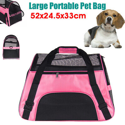 Pet Dog Cat Puppy Carrier Folding Crate Cage Foldable Bag Travel Box