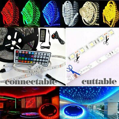 5050 Rgb 300Led Led Strip Colour Changing Tape Sound Activated Kitchen Lighting