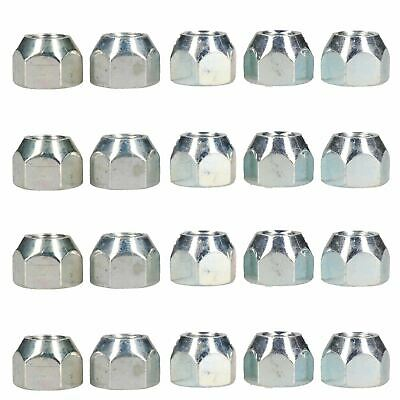 """7/16"""" UNF Conical Wheel Nuts Pack of 20 for Trailer Caravan Suspension Hubs"""