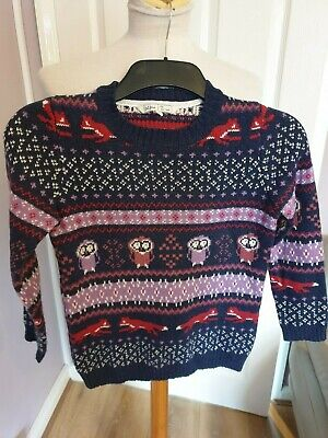 Superb Boys Designer Fat Face Knitted Jumper Uk 8-9 Years Rrp £40.00