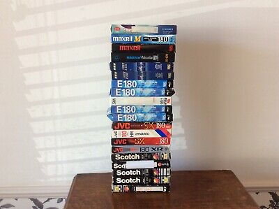 Video Tapes VHS Job Lot Bundle 20 TV Blank Used Recorder Vintage