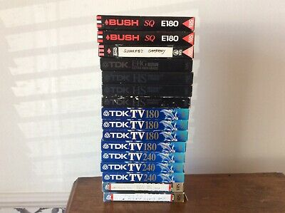 Video Tapes VHS Job Lot Bundle 16 TV Blank Used Recorder Vintage
