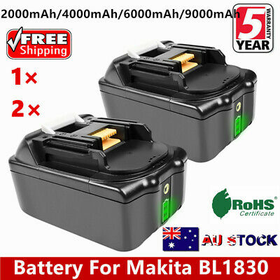 6.0AH 18V For Makita LXT400 BL1830 BL1840 BL1845 BL1815 Lithium Ion with LED AU