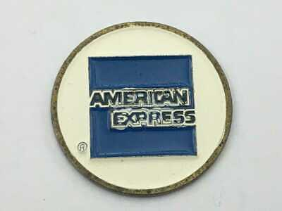 "American Express 1"" Flat Coin Style Golf Marker - A Great Advertising Piece!"