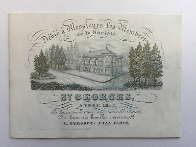 Carte de Faire-part Porcelaine St Georges I. Pergoot & F. Van Parys 1850