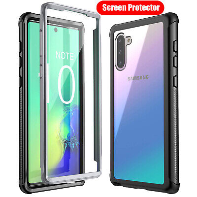 For Samsung Galaxy S10 S10e S10+ Note 10 Plus Clear Cover With Screen Protector