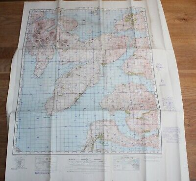 1940 Sound of Sleat War Office Revision Map Chart World Two WWII Chart Scotland