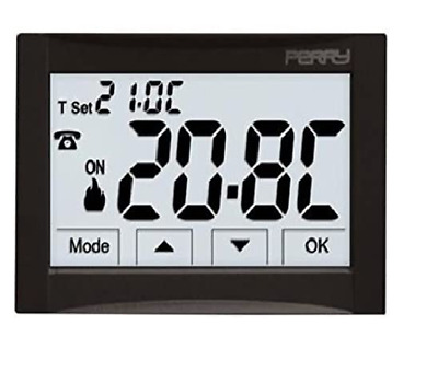 Thermostat digital journalier 230V serie next blanc Perry