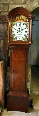 A pretty little Victorian Oak Grandfather Longcase Clock C1850