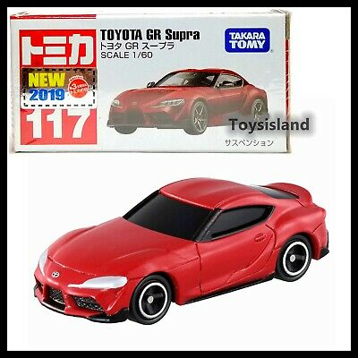 Tomica 117 Toyota Gr Supra 1/60 Tomy Diecast Car 2019 Aug New Model Red