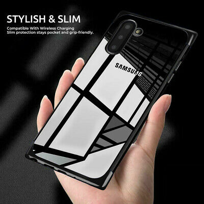 For Samsung Galaxy Note 10 Plus Shockproof Plating Rubber Clear Slim Soft Case