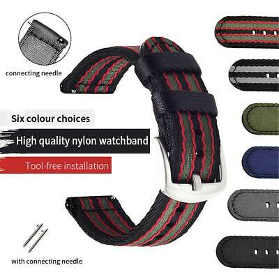 For HuaWei Nylon Canvas Watch 20/22mm Replacement Strap Quick Release HOT Sale