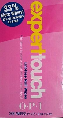 OPI Expert Touch Lint-Free Nail Wipes 200