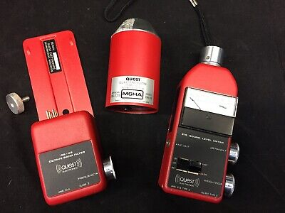 3M Quest 215 db Sound Level Meter, Calibrator CA-12 and OB-45 Octave Band Filter