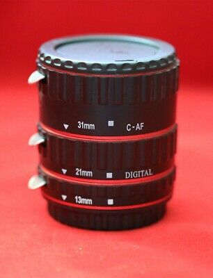 Auto Focus AF Macro Lens Extension Tube Ring Adapter for Canon EOS EF Lens UK