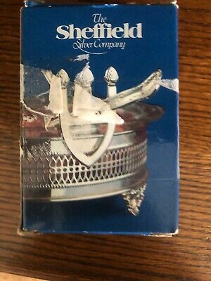 New With Box The Sheffield Silver Company #1180 Silverplate Casserole Spoon Rest