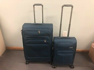 Samsonite Epsilon NXT Luggage 2-piece Softside Set of 2 Check-in Carry-on Blue