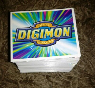 FULL SET OF STICKERS X244 DIGIMON