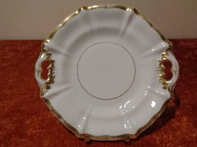 Antique Porcelain Pageantry Plate/Platter - um 1910 - Gold Uninstall Kor - 25,5