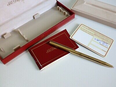 Boligrafo Dupont Paris Metal Chapado Original Made In France Pen