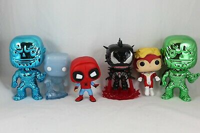 Loose Funko Pop Marvel Lot Chrome Thanos Venom Iron Man Spiderman Angel ETC