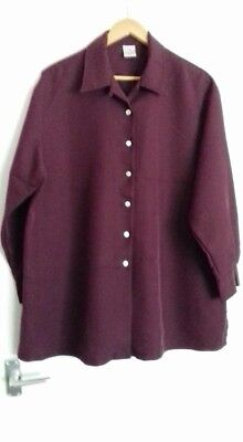 VINTAGE MOTHERCARE Ladies Maroon Maternity Shirt - Size 14 - Worn Once