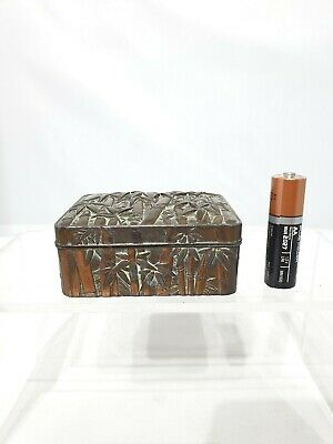 Superb Japanese Antique 19th/20thC Antimony Bronze on Pewter signed box AF