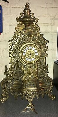Rare Antique Franz Hermle Gilt Imperial Gild Brass Mantle Louis XV Boulle clock