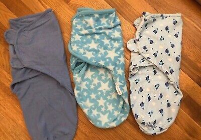 Lot Of 3: Summer Swaddle Me Infant Swaddle Size Small-medium 7-14 Lbs...