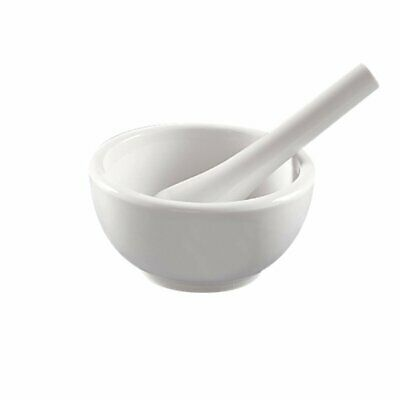 Apothecary Porcelain Mortar and Pestle 8 Ounce Small Kitchen Grinder Mixer