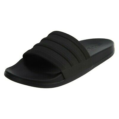 Mens Adidas Adilette Cloudfoam+ Mono Black Slides Athletic Sandal S82137 Sz 7-14