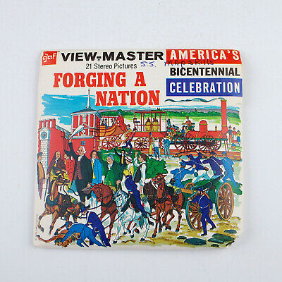 Vintage GAF View-Master Reel Packet No B811 : Forging A Nation 1787-1886 (1974)