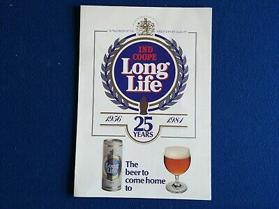 Original 1981 Ind Coope Long Life Beer Advertising Promotion A4 Leaflet