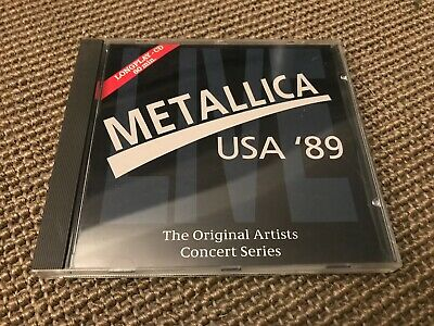 Album Cd 10T Metallica Live Usa 1989 (Master Of Puppets/Seek And Destroy)